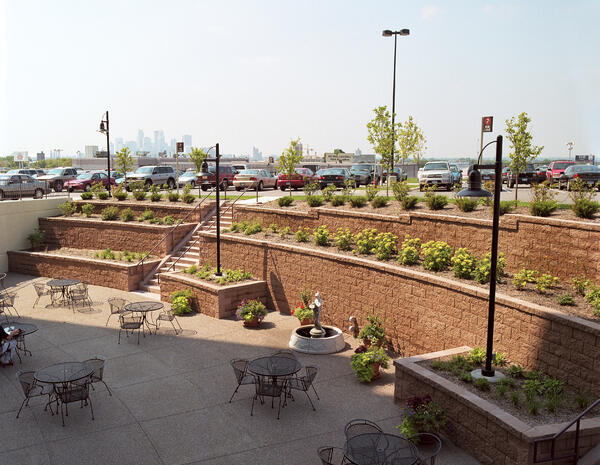 Nicolock pavers can be used in retaining wall landscaping.