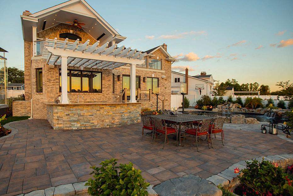 nicolock outdoor living space